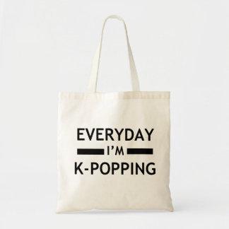 毎日私はK-POPPINGです! トートバッグ