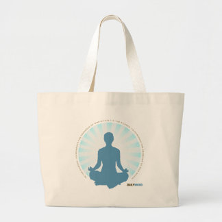 """毎日WORD®の""""内部の平和""""キャンバスのバッグ ラージトートバッグ"""