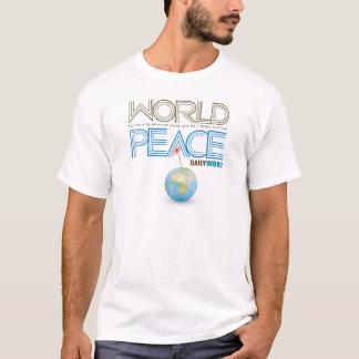 """毎日WORD® """"世界平和"""" Tシャツ"""