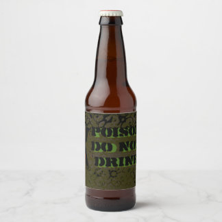 毒ボトルはハロウィンを産業グランジ分類します ビールラベル