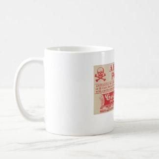 毒ヴィンテージの薬剤師のヒ素のラベルのマグ コーヒーマグカップ