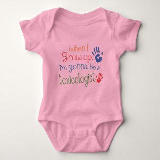 毒物学者(未来)の幼児ベビーのTシャツ ベビーボディスーツ