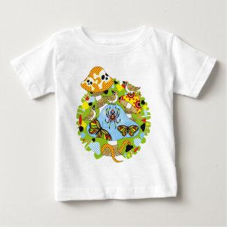 毒茸と雀チュチュンがチュン(Poisonous mushroom and twitter of sp ベビーTシャツ