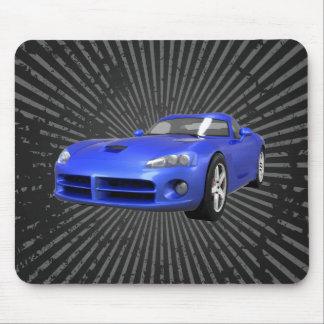 毒蛇懸命トップの筋肉車: 青い終わり: マウスパッド