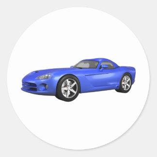 毒蛇懸命トップの筋肉車: 青い終わり ラウンドシール