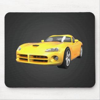 毒蛇懸命トップの筋肉車: 黄色い終わり: マウスパッド