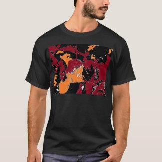 毒Appleの抽象芸術 Tシャツ