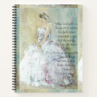比ゆ的な絵画の祈りの言葉ジャーナル ノートブック