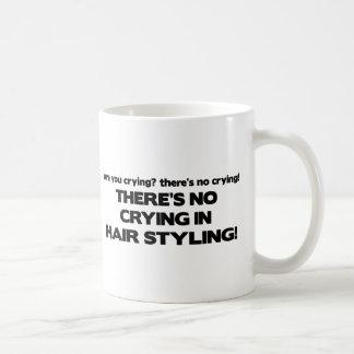 毛のスタイルを作ることの泣き叫び無し コーヒーマグカップ