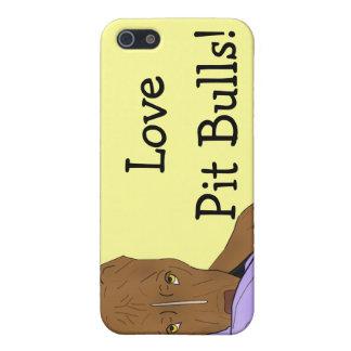 毛布のかわいいピット・ブル-線画のポートレート iPhone 5 COVER