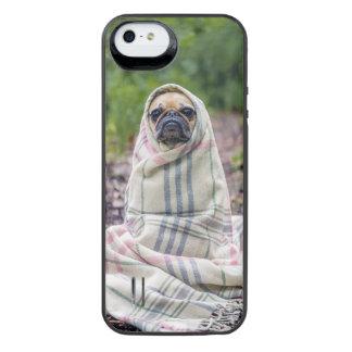 毛布のパグ iPhone SE/5/5sバッテリーケース