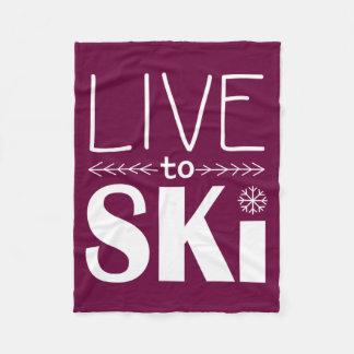 毛布の(基本) -スキーをするためにラズベリー住んで下さい フリースブランケット