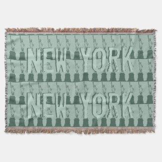毛布ニューヨーク総括的なNYCの自由の女神 スローブランケット