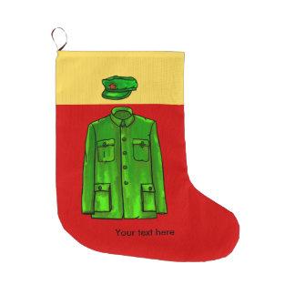 毛沢東の議長の毛のコート ラージクリスマスストッキング