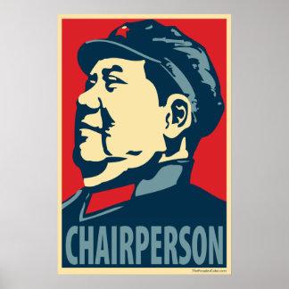 毛沢東-議長: OHPポスター ポスター
