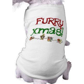 毛皮で覆われたクリスマス犬のTシャツ ペット服