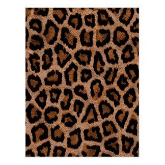 毛皮で覆われたヒョウのアニマルプリント ポストカード