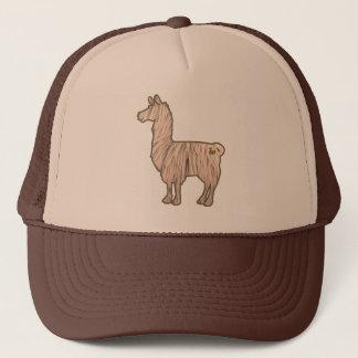 毛皮で覆われたラマの帽子 キャップ