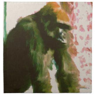 毛皮で覆われた猿 ナプキンクロス
