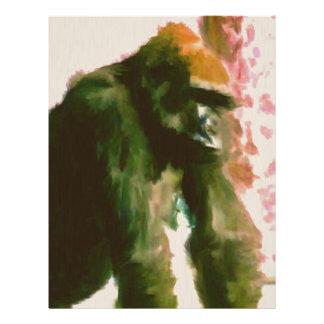 毛皮で覆われた猿 レターヘッド