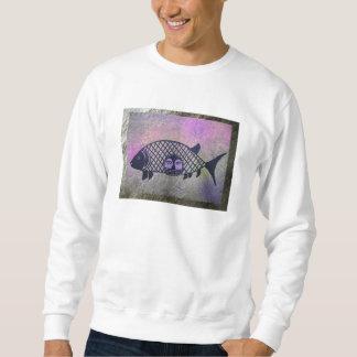 毛皮で覆われた魚 スウェットシャツ