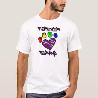 毛皮で覆われたForevery Tシャツ