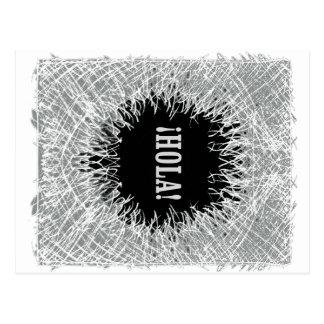 毛皮で覆われたHola ポストカード