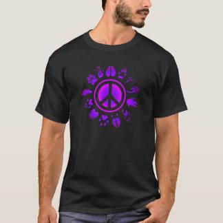 毛皮で覆われたpeace2 tシャツ
