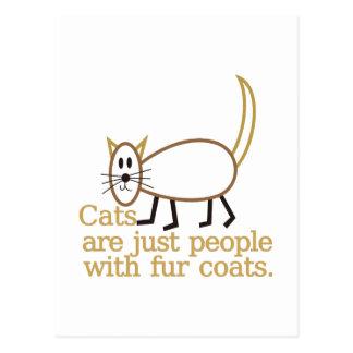 毛皮のコート ポストカード