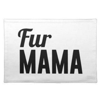 毛皮のママ ランチョンマット