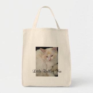 毛皮猫のトートバックの少し球 トートバッグ