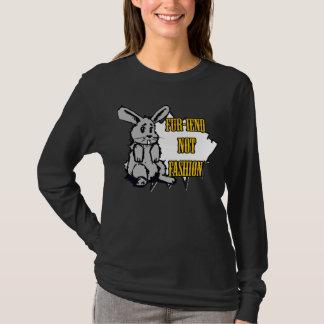 毛皮iendの長袖T Tシャツ