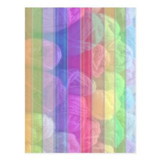 毛織の球スペクトル-ニットクラブコレクション ポストカード