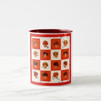 毛色のビンゴ ツートーンマグカップ