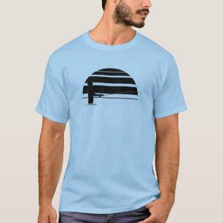 毛鉤釣のティー Tシャツ