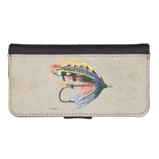 毛鉤釣の魅惑の芸術のサケは魅惑を飛ばします iPhoneSE/5/5sウォレットケース
