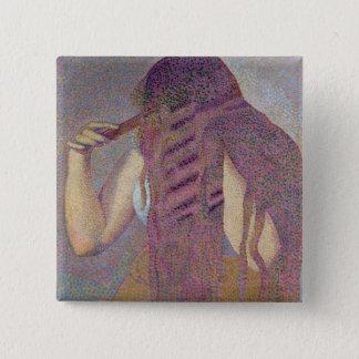 毛、c.1892 5.1cm 正方形バッジ