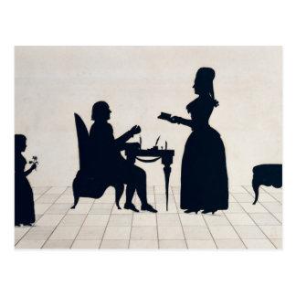 氏および夫人のロランドシルエット ポストカード