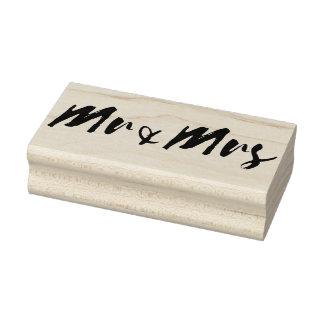 氏および夫人単語の結婚のタイポグラフィ ラバースタンプ