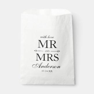 氏および夫人結婚式の引き出物のバッグ フェイバーバッグ