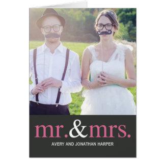 氏および夫人結婚式は写真カード感謝していしています カード