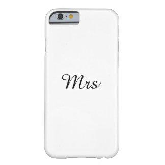 氏および夫人|のエレガントなモダンの一致のカップル BARELY THERE iPhone 6 ケース