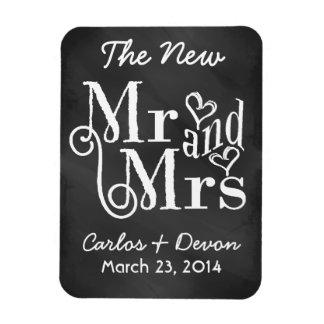 """""""氏および夫人""""黒板の結婚式の記念品の磁石 マグネット"""