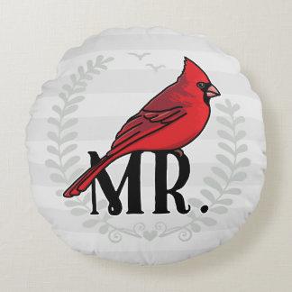 氏および夫人Hisおよび彼女の物Cardinal氏 ラウンドクッション