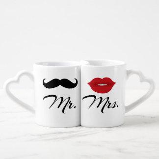 氏およびLovers' Mug Set夫人の ペアカップ