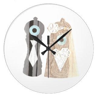 氏およびSalt n夫人のコショウの時計 ラージ壁時計