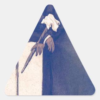 氏のワシントン州HibbertジェームスTissot風刺漫画 三角形シール