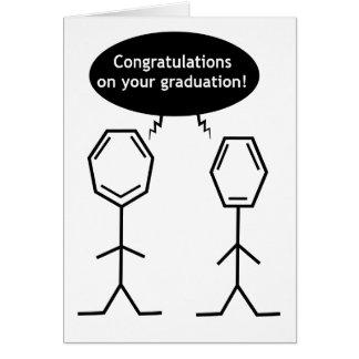 氏ベンゼン卒業カード グリーティングカード
