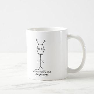 氏ベンゼン滞在の陽性のマグ ベーシックホワイトマグカップ