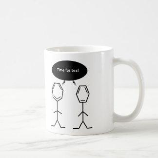 氏ベンゼン茶時間マグ ベーシックホワイトマグカップ